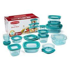 Rubbermaid Premier 30-Piece Plastic Food Storage Container Set