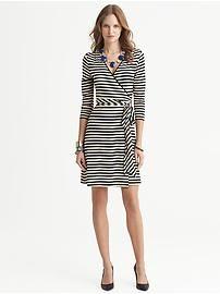 Gemma Striped Wrap Dress from Banana Republic. #womensfashion2013