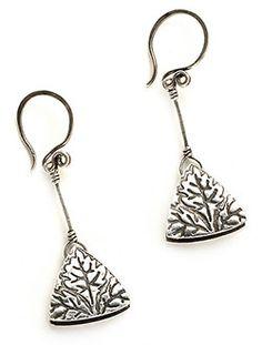 Free Metal Clay Project: Pendulum Triangles - Art Jewelry Magazine By Kim Otterbein