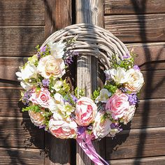 Hydrangea / Romantický veniec Drawing, Grapevine Wreath, Grape Vines, Hydrangea, Floral Wreath, Wreaths, Beautiful, Future, Health