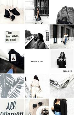 MY SECRET TO HAVE A CLEAN AND ORGANIZED INSTAGRAM FEED! Instagram Feed Organizer, Instagram Feed Goals, Best Instagram Feeds, Instagram Feed Ideas Posts, Instagram Outfits, Black And White Aesthetic, White Brand, Banners, Anna