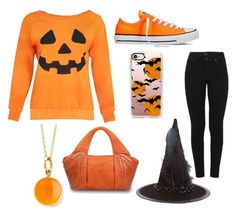 """Halloween is near!"" by cantpickausername ❤ liked on Polyvore featuring Citizens of Humanity, Converse, Casetify, Accessorize, Syna and GRETCHEN"