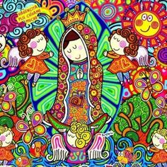 Photo by Consuelo Quezada Mama Mary, Blessed Virgin Mary, Mexican Art, Hippie Style, Comic Art, Cute Pictures, Folk Art, Canvas Prints, Wallpaper