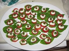If you want to both astound and gross people out, you need to whip up this Eyeball Caprese appetizer for your Halloween party.