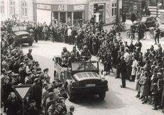 April 1940 on St. Mathiasgade in Viborg Viborg, World War Ii, Old Photos, Ww2, Denmark, Past, Military, Country, Outdoor
