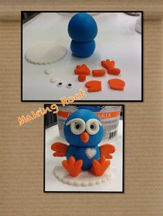 Making hoot cake topper Owl Cake Toppers, Fondant Toppers, Special Birthday Cakes, 2nd Birthday Parties, Birthday Ideas, Cake Topper Tutorial, Fondant Tutorial, Owl Food, Biscuit