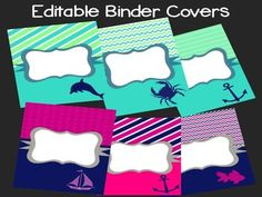 Editable Preppy Binder Covers
