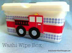 Washi Wipe Box  @easierthanithought.com
