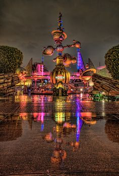 Beautiful photo of Tomorrowland . Other Disney photos on my flickr page.  https://www.flickr.com/photos/30763771@N03/