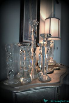 crystal candlesticks - Google Search