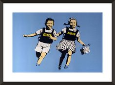Banksy JACK AND JILL POLICE KIDS Street Graffiti Art Reprint Not Framed 18x24 | eBay