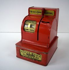 we had one for our toddler daughter in the late 70s. we'd tear into it when we were desperate for cigarette money. OMG. thank God we quit smoking. and stealing. ha!