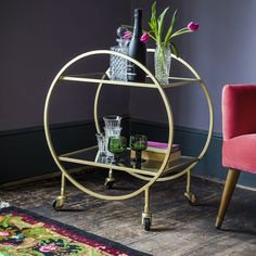 Halo Bar Trolley | Atkin and Thyme