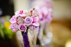 Whimsical Winter Wedding featuring Radiant Orchid  | bellethemagazine.com