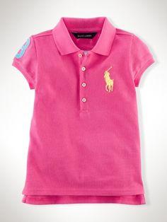 2927d4807a220 Big Pony Pop Polo - Girls 2-6X Polos - Sale Price   32.99