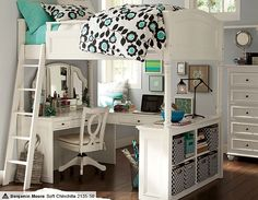 I love the PBteen Chelsea Nouveau Floral Bedroom on pbteen.com