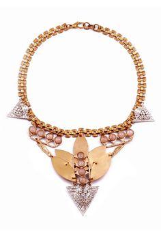 gold, diamonds tribal glam / Lulu Frost necklace