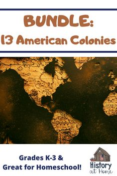 13 American Colonies Bundle for Grades and Homeschool History Activities, Teaching History, Social Studies Resources, Teen Life, Home Learning, Us History, Public Speaking, Early Education, Elementary Education