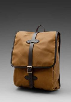 Filson Tin Cloth Backpack on Wantering.