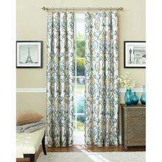 Better Homes and Gardens Ikat Scroll Curtain Panel - Walmart