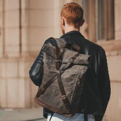 Leather Canvas Backpack Canvas Laptop Bag, Canvas Duffle Bag, Leather Duffle Bag, Canvas Messenger Bag, Canvas Backpack, Laptop Backpack, Canvas Shoulder Bag, Leather Shoulder Bag, Leather Bifold Wallet
