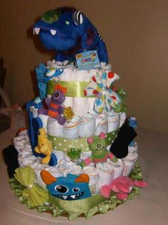 Candice's Monster Baby Shower Cake