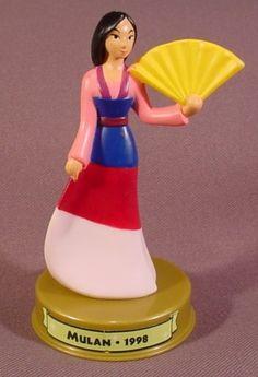 Mcdonalds 100 Years Of Magic Mulan PVC Figure On Base, Walt Disney World