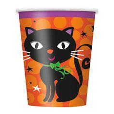 Flotte kopper til Halloween eller Fastelavn festen! Halloween Kat Kop - Single