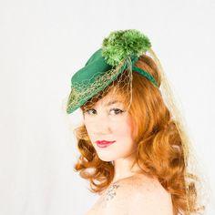 1930s vintage hat / wool tilt hat / Teresa by PoppycockVintage, $128.00