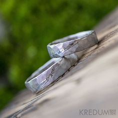Hey, I found this really awesome Etsy listing at https://www.etsy.com/listing/262283809/hammered-wedding-ring-stainless-damascus