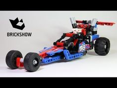 Lego Technic 42010 + 42011 Dragster Build & Review