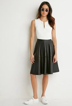 faux leather a line skirt forever 21 2000184016