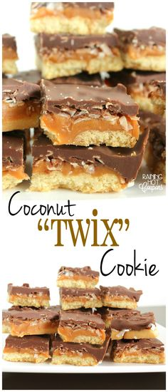 "Coconut ""Twix"" Cookie Peanut Butter Twix, Gluten Free Peanut Butter, Twix Cookies, Coconut Cookies, Snickers Recipe, Cookie Recipes, Dessert Recipes, Buttery Shortbread Cookies, Best Cookies Ever"