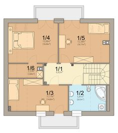 Rzut ARN Tamarillo 2 CE Design Case, Floor Plans, House Styles, Dom, Haus, Floor Plan Drawing