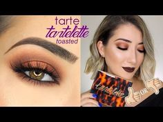 TARTE COSMETICS TARTELETTE TOASTED PALETTE TUTORIAL, SWATCHES & REVIEW - YouTube