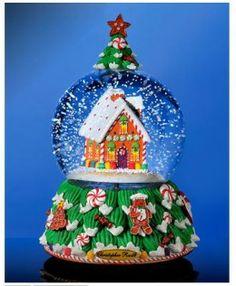 Image detail for -Christopher Radko Christmas Snow Globe