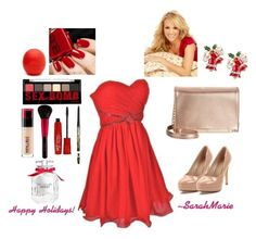 """Christmas party!! (Carrie underwood)"" by sarahbearsy on Polyvore featuring essy"