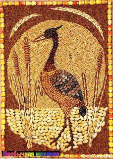 Paintings from cereals, seeds and legumes