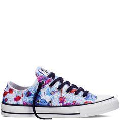 6bfcbdd704662a Chuck Taylor All Star Floral Print Spray Paint Blue spray paint blue Floral  Converse