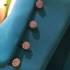 Stunning crystal buttons can add a real touch of glamour to your outfit. Paired with this beautiful jade colour it shouts out all about the Spring Spring Wedding, Wedding Blog, Wedding Styles, Dressmaker, Prom Dresses, Wedding Dresses, Wedding Looks, Dream Dress, Dress For You