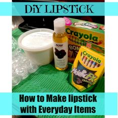 I'm going to have soooooooo much fun doing this tomorrow! DIY Lipstick - How To Make Lipstick With Everyday Items