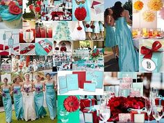Does this look like 4th of July?? :  wedding inspiration board red turquoise 11017.blue Red Inspiration Red Aqua Tiffanyb.jpg.resize