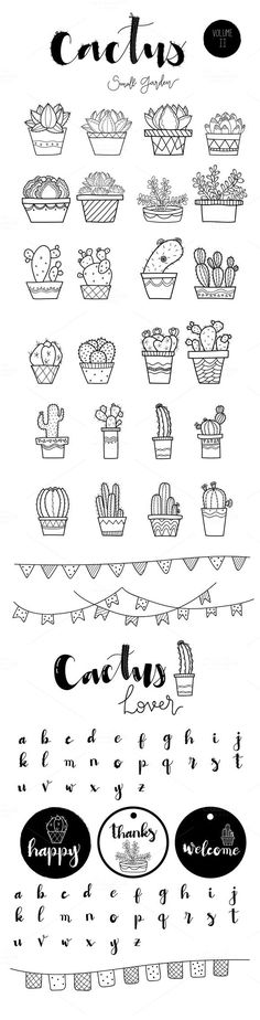 Small Garden SET II by beerjunk on Creative Market – Doodles Doodle Drawings, Cute Drawings, Doodle Art, Doodle Ideas, Doodle Inspiration, Small Easy Drawings, Easter Drawings, Doodle Fonts, Doodle Icon