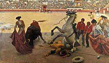 El Quite (1897) de Enrique Simonet. .....Tauromaquia - Wikipedia, la enciclopedia libre