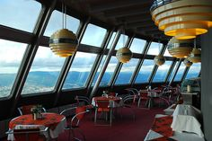 For the view. Ještěd Tower cafe by celie, via Flickr