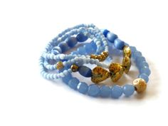 Stacking bracelet Five strand beadwork by ShimmerTreeJewelry, $33.16