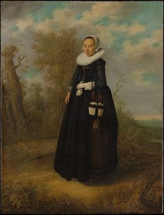 A Young Woman in a Landscape  Dutch Painter, dated 1636     Medium:      Oil on wood  Dimensions:      26 x 19 7/8 in. (66 x 50.5 cm)  Classification:      Paintings  Credit Line:      The Friedsam Collection, Bequest of Michael Friedsam, 1931  Accession Number:      32.100.10    This artwork is not on display