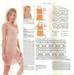 "Crochet patterns: Free Crochet Chart for "" I feel Pretty!"" Summer Dress"