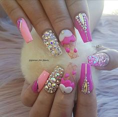 ✨ Ice-Creammm ✨  Birthday nails for our Glamour Chic Beauty Babe @lookngoodbeauty16   #glamourchicbeauty #glamourchic #gcnails #goldcoastnails #pinknails #swarovskinails #blingnails #prettynails #birthdaynails #3dnailart #nails #nailsoftheday #longnails #tumblrfeature #nailsonpoint #girlynails #nailsofinstagram #nailswag #nailpro #nailprodigy #nailporn #nailpromag #nailedit #nailit #nailitmag #nailfashion #swan_nails #thenaillife_ #hudabeauty #vegas_nay