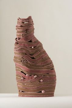 Linda Dangoor | Cat -   Earthenware with underglazes